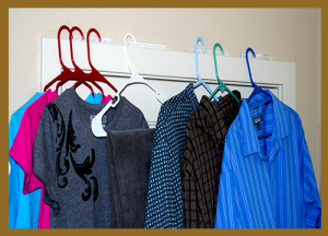 hang drying clothes