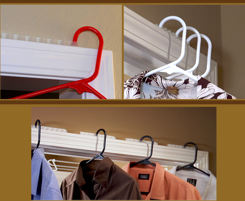 We keep your clothes on the door, and off the floor! - HangerStation