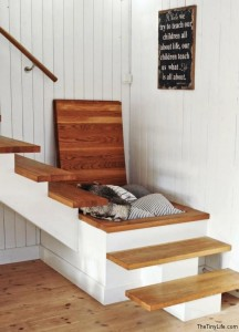 Staircase Storage space saver idea