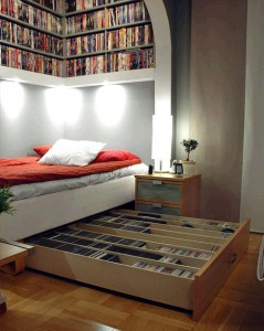 adults storage bed space saver idea